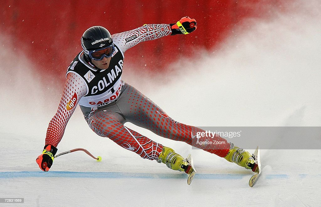 Georg Streitberger of Austria competes in the FIS Skiing World Cup Men's Super-G on December 15, 2006 in Val Gardena, Italy.