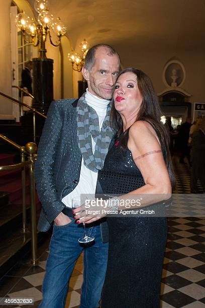 Georg Uecker and Katy Karrenbauer attend the Artists Against Aids Gala 2014 at Theater des Westens on November 24 2014 in Berlin Germany