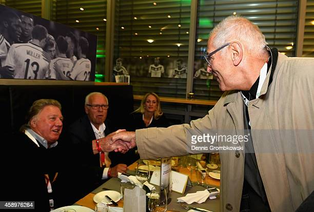 Georg Volkert attends the Club of former national players meeting at GrundigStadion on November 14 2014 in Nuremberg Germany