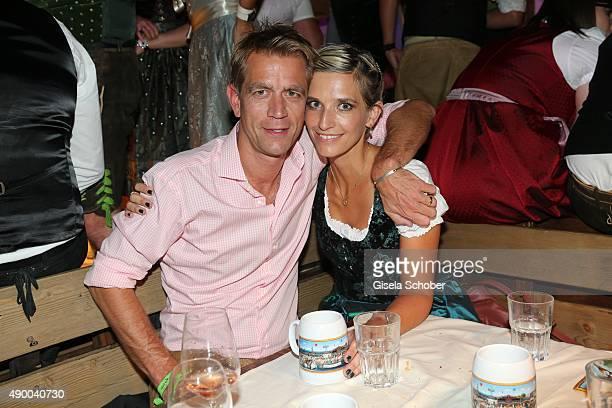 Georg von Waldenfels and his wife Verena von Waldenfels during the Oktoberfest 2015 at Kaeferschaenke at Theresienwiese on September 25 2015 in...