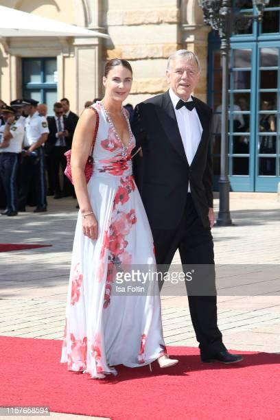 Georg von Waldenfels and his wife Veronika von Waldenfels during the Bayreuth Festival 2019 opening premiere Tannhaeuser at Bayreuth Festspielhaus on...