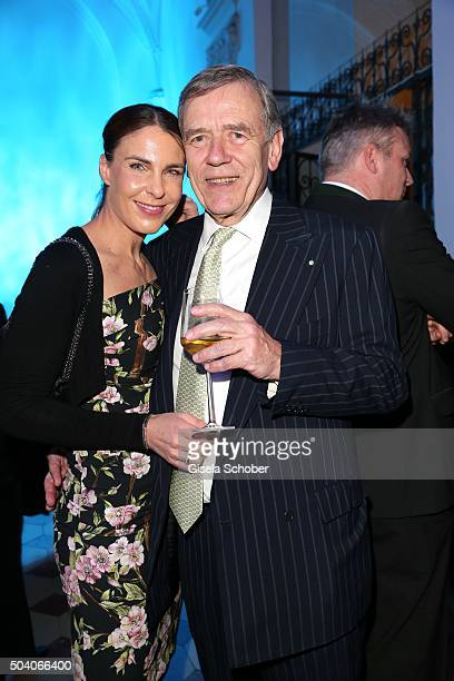 Georg von Waldenfels and his wife Veronika von Waldenfels during the new year reception of the Bavarian state government at Residenz on January 8...