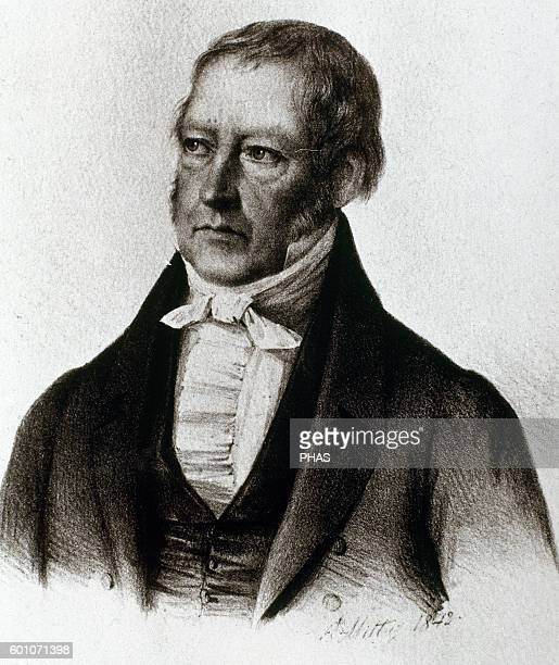 Georg Wilhelm Friedrich Hegel German philosopher Engraving