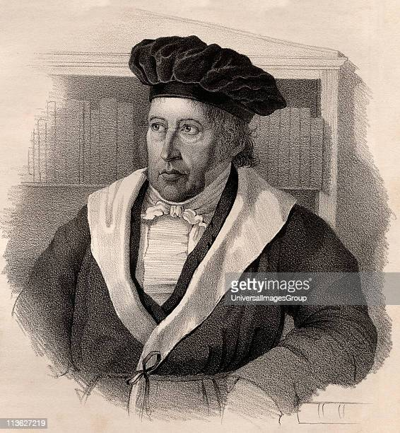 Georg Wilhelm Friedrich Hegel17701831 German philosopher19th century lithograph by Em Baerentzen CoFrom the book Figaro Journal of LiteratureArt and...
