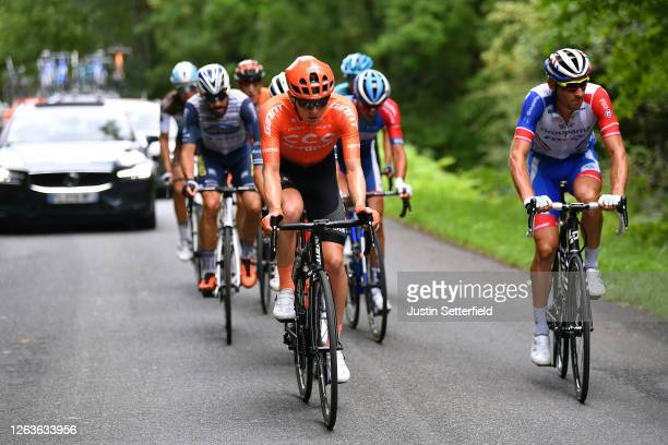 Georg Zimmermann of Germany and CCC Team / Matthieu Ladagnous of France and Team Groupama FDJ / Julien Trarieux of France and Team Nippo Delko...
