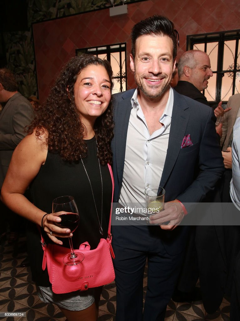 Georganna Yessaian and Jon Missirliam attend WE tv's LOVE BLOWS Premiere Event at Flamingo Rum Club on August 16, 2017 in Chicago, Illinois.