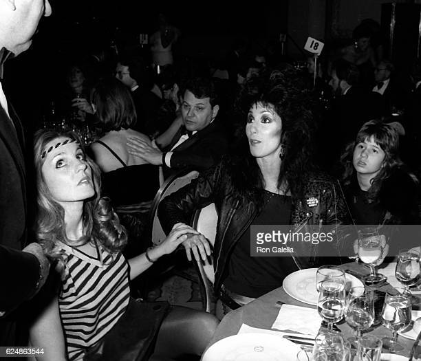 Georganne LaPiere Cher and Chastity Bono attend Night of 100 Stars Benefit Gala on February 14 1982 at the New York Hilton Hotel in New York City