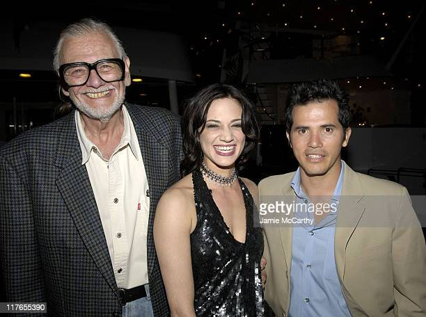 George A Romero Director of 'Land of The Dead' Asia Argento and John Leguizamo