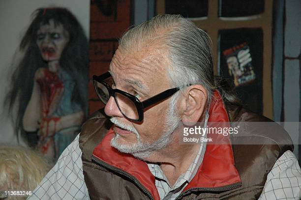 George A Romero during 2006 Big Apple Comic Book Convention Press Reception at Penn Plaza Pavilion in New York City New York United States