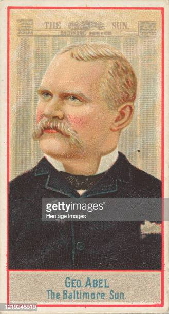 George Abel, The Baltimore Sun, from the American Editors series for Allen & Ginter Cigarettes Brands, 1887. Artist Allen & Ginter.