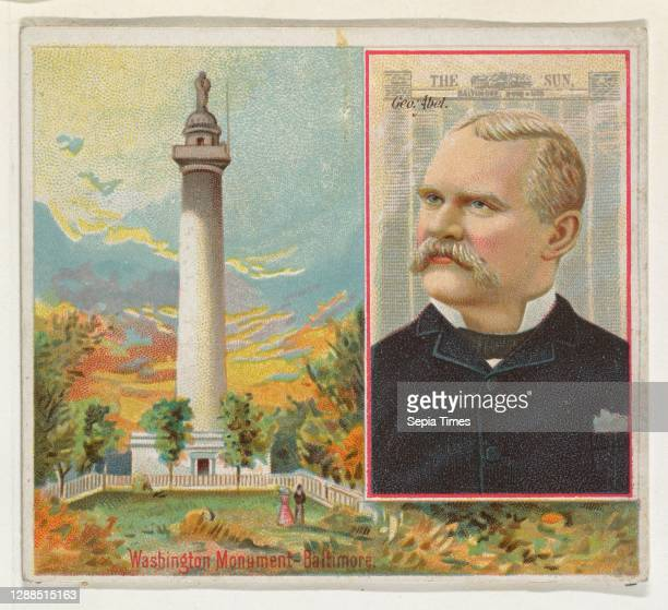 George Abel, The Baltimore Sun, from the American Editors series for Allen & Ginter Cigarettes Commercial color lithograph, Sheet: 2 7/8 x 3 1/4 in....