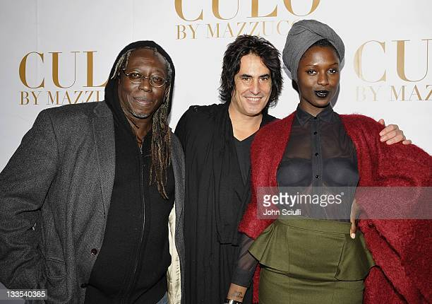 George Acogny, Raphael Mazzucco and Jodi arrive at the International Launch of CULO by Mazzucco at Sunset Marquis Hotel & Villas on November 19, 2011...
