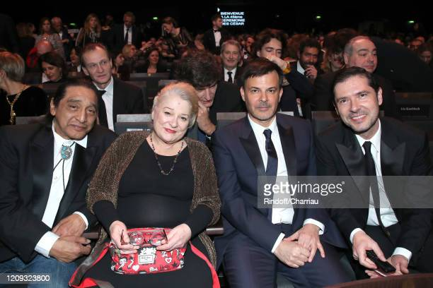 George Aguilar, Josiane Balasko, François Ozon, Melvil Poupaud attend the Cesar Film Awards 2020 Ceremony at Salle Pleyel In Paris on February 28,...