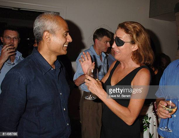 George Alagiah and Marie Colvin attend a party at the Haymarket Hotel following the gala performance 'Cries from the Heart' in aid of Human Rights...
