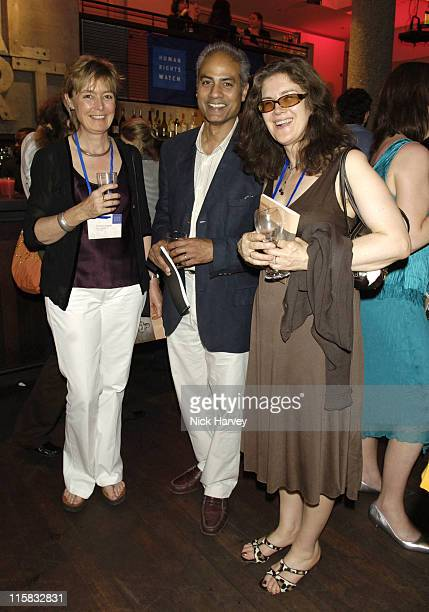 George Alagiah his wife Francis and Jane Ashley