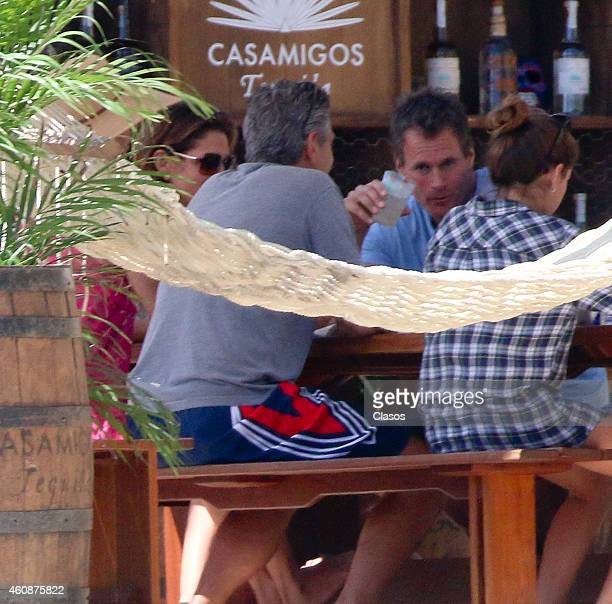 George and Amal Clooney and Randy Gerber and Cindy Crawford enjoy some down time during the holidays on December 27, 2014 in Cabo San Lucas, Mexico.