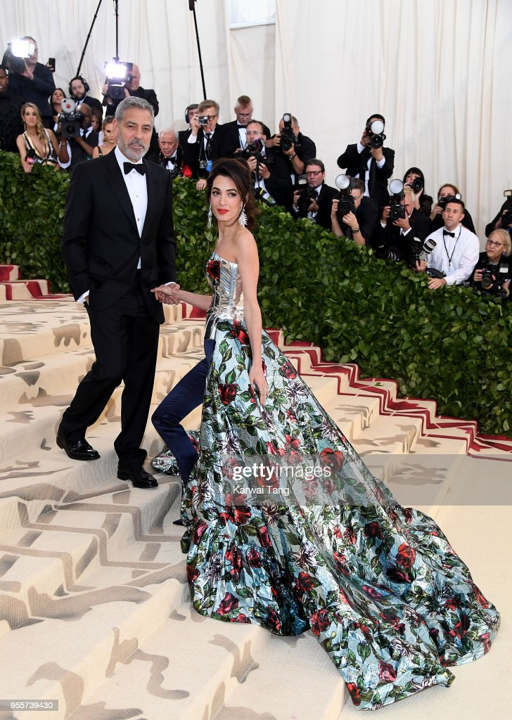 George and Amal Clooney attend 'Heavenly Bodies: Fashion & The Catholic Imagination' Costume Institute Gala at the Metropolitan Museum of Art on May 7, 2018 in New York City.