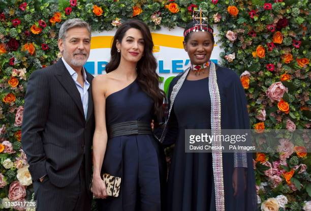 George and Amal Clooney representing the Clooney Foundation for Justice arrive with Human Rights and FGM activist Nice Nailantei Leng'ete at the...