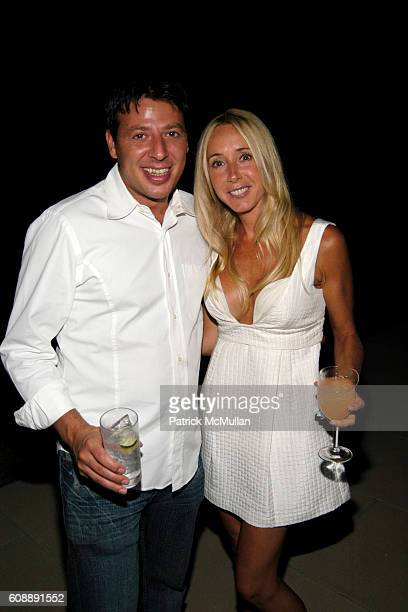 George and April Millman attend Michael Hirtenstein and Hampton Style Host Dinner With Stan Perelman for One York at Bridgehampton on August 31 2007