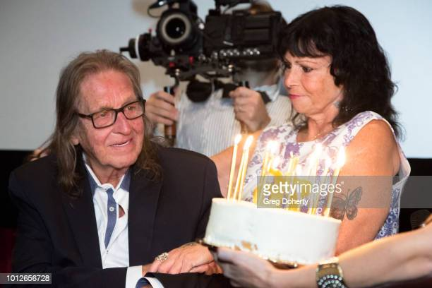 George and Rhonda Jung at George Jung's Birthday Celebration And Screening Of Blow at TCL Chinese 6 Theatres on August 6 2018 in Hollywood California