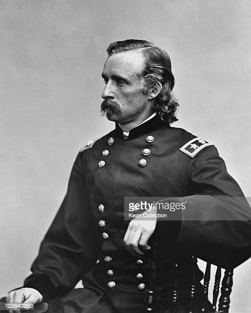 George Armstrong Custer United States Army officer and cavalry commander in the American Civil War and the Indian Wars USA circa 1862 Pictured in...