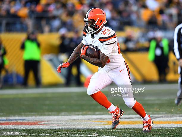 George Atkinson of the Cleveland Browns in action during the game against the Pittsburgh Steelers at Heinz Field on January 1 2017 in Pittsburgh...