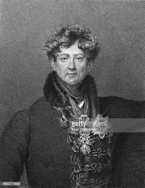 George Augustus Frederick later King George IV circa 1810 He is wearing the Order of the Garter Star Engraved by E Scriven from the original plate by...