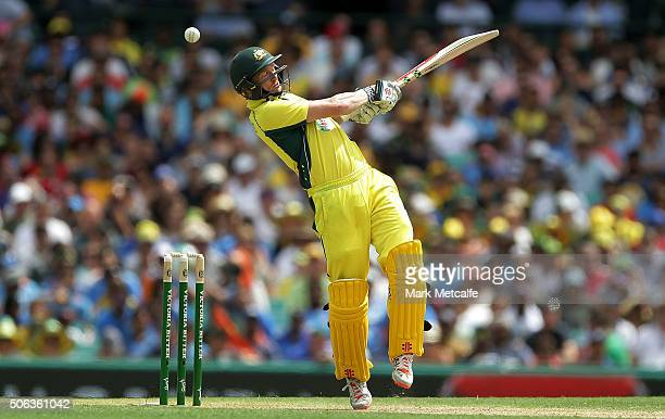 George Bailey of Australia bats during game five of the Commonwealth Bank One Day Series match between Australia and India at Sydney Cricket Ground...