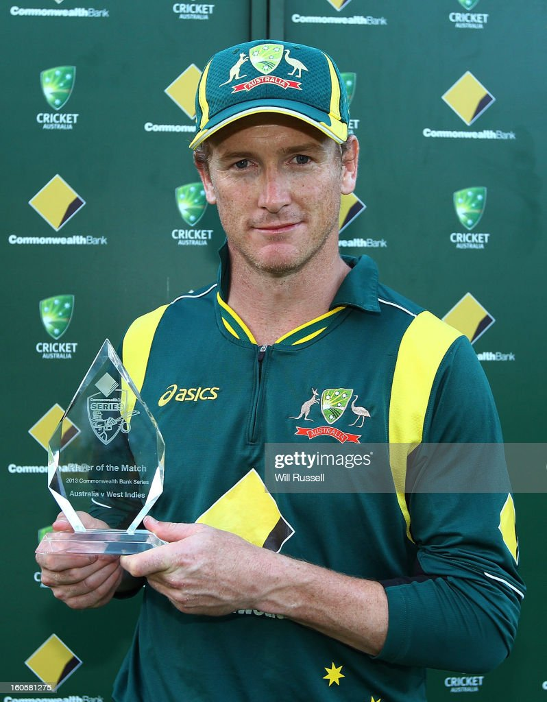George Bailey of Australia poses with his Man of the Match award after game two of the Commonwealth Bank One Day International Series between Australia and the West Indies at WACA on February 3, 2013 in Perth, Australia.