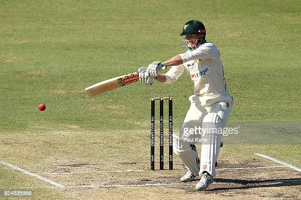 George Bailey of Tasmania bats during day four of the Sheffield Shield match between Western Australia and Tasmania at WACA on November 20 2016 in...