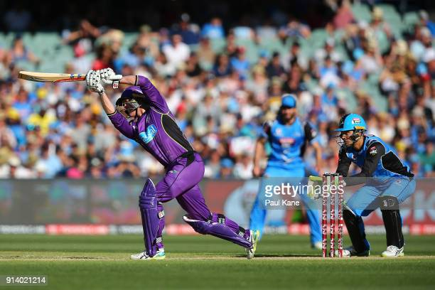 George Bailey of the Hurricanes bats during the Big Bash League Final match between the Adelaide Strikers and the Hobart Hurricanes at Adelaide Oval...