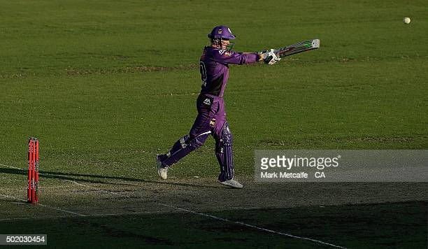 George Bailey of the Hurricanes bats during the Big Bash League match between the Sydney Sixers and the Hobart Hurricanes at Sydney Cricket Ground on...