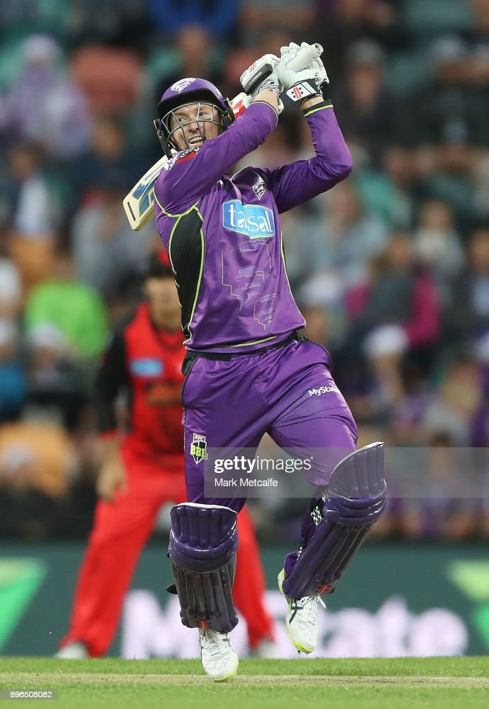 George Bailey of the Hurricanes bats during the Big Bash League match between the Hobart Hurricanes and the Melbourne Renegades at Blundstone Arena on December 21, 2017 in Hobart, Australia.