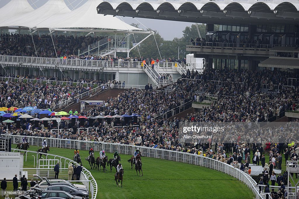George Baker riding Harris Tweed lead all the way to win the bet365 Summer Stakes at Goodwood racecourse on July 30, 2013 in Chichester, England.