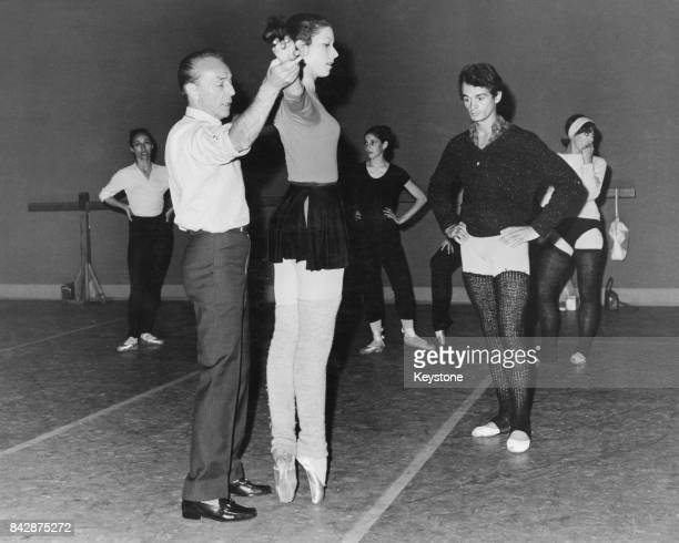 George Balanchine DirectorGeneral of the New York City Ballet during the corps' rehearsals at the Royal Opera House Covent Garden London 29th August...