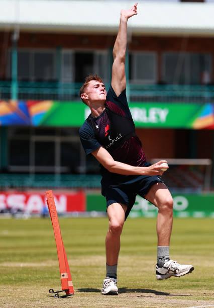 ZAF: England Nets Session - ICC U19 Cricket World Cup 2020