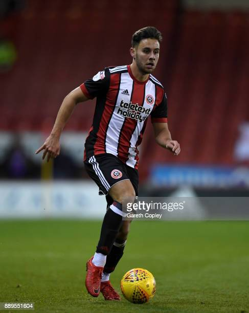 George Baldock of Sheffield United during the Sky Bet Championship match between Sheffield United and Bristol City at Bramall Lane on December 8 2017...