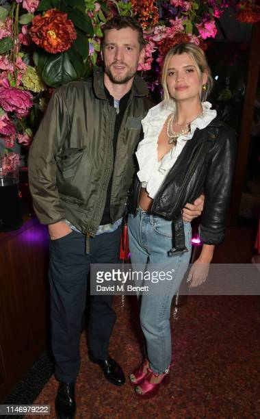 George Barnett and Pixie Geldof attend the Elite London 10 year anniversary party at Ella Canta in association with Maestro Dobel Tequila on May 30,...