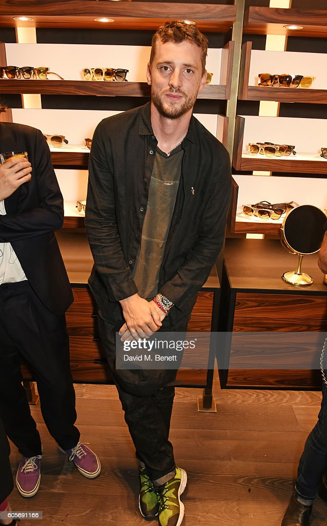 6085f081811 George Barnett attends the first Oliver Peoples boutique launch in ...