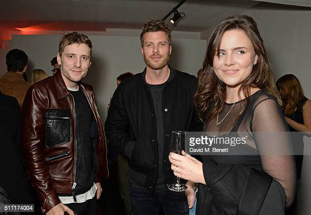 George Barnett, Rick Edwards and Emer Kenny attend a party hosted by Marks and Spencer, The British Fashion Council and Alexa Chung to kick off...