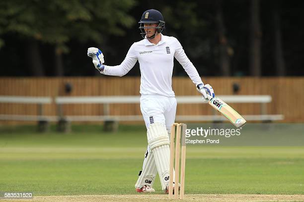 George Bartlett of England during the match between England U19's and Sri Lanka U19's at the University Cricket Ground on July 26 2016 in Cambridge...