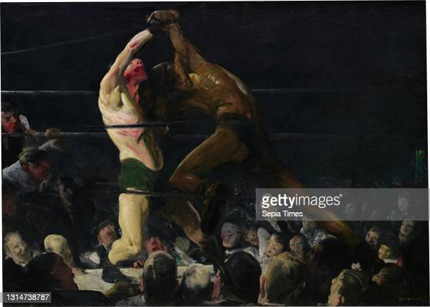 George Bellows, , American, 1882 - 1925, Both Members of This Club oil on canvas, overall: 115 x 160.5 cm , framed: 133 x 177.8 cm , Painted in...