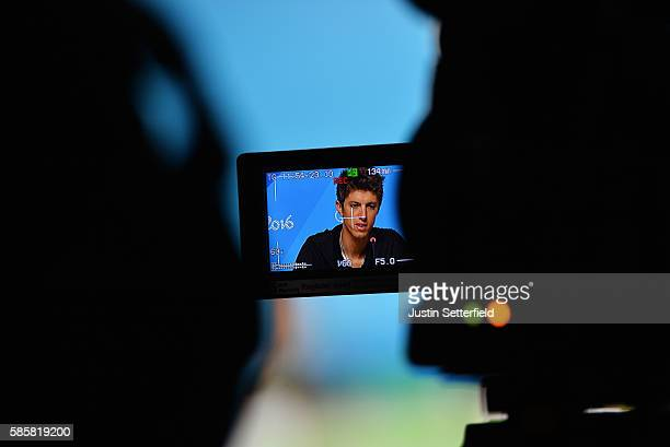 George Bennet of New Zealand speaks to media at a New Zealand Olympic Committee press conference on August 4 2016 in Rio de Janeiro Brazil