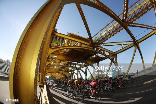 George Bennett of New Zealand and Team Jumbo - Visma / Bertjan Lindeman of The Netherlands and Team Jumbo - Visma / pass under the Tower Bridge /...