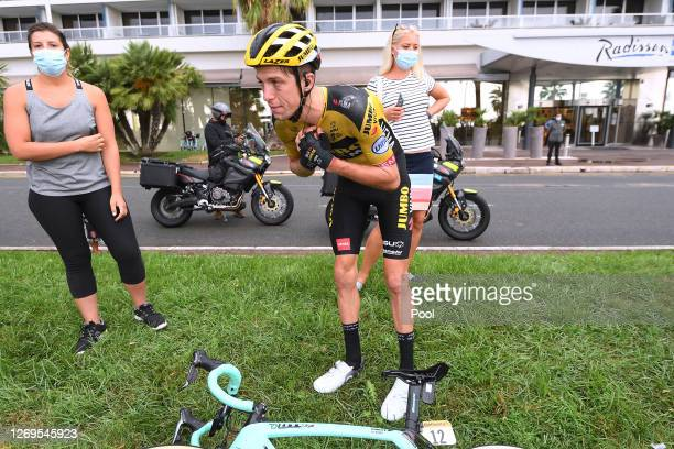 George Bennett of New Zealand and Team Jumbo - Visma / Crash / during the 107th Tour de France 2020, Stage 1 a 156km stage from Nice Moyen Pays to...