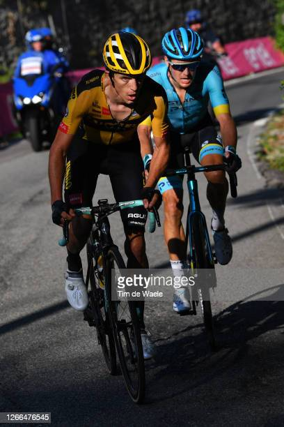 George Bennett of New Zealand and Team Jumbo - Visma / Jakob Fuglsang of Denmark and Astana Pro Team / during the 114th Il Lombardia 2020 a 231km...