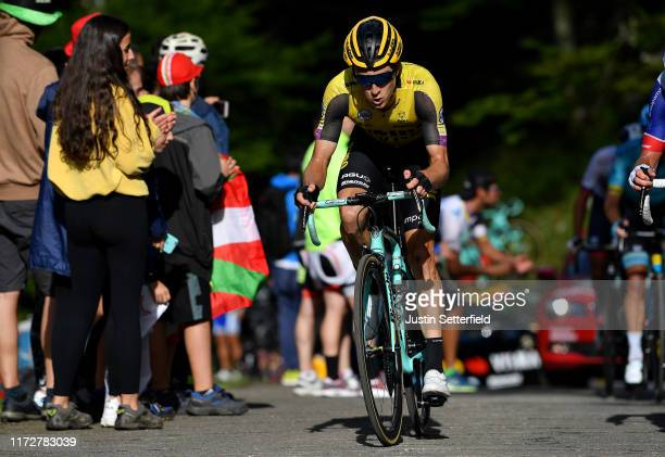 George Bennett of New Zealand and Team Jumbo-Visma / Alto de Los Machucos / Fans / Public / during the 74th Tour of Spain 2019, Stage 13 a 166,4km...