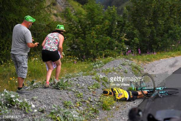 George Bennett of New Zealand and Team Jumbo-Visma / Crash / Fans / Public / during the 106th Tour de France 2019, Stage 18 a 208km stage from Embrun...