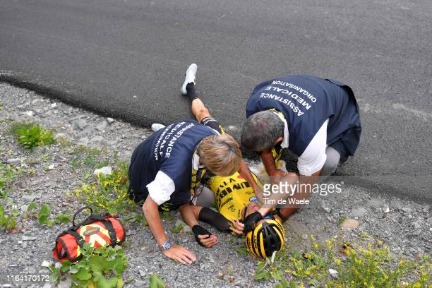 George Bennett of New Zealand and Team Jumbo-Visma / Crash / Medical / Doctor / during the 106th Tour de France 2019, Stage 18 a 208km stage from...
