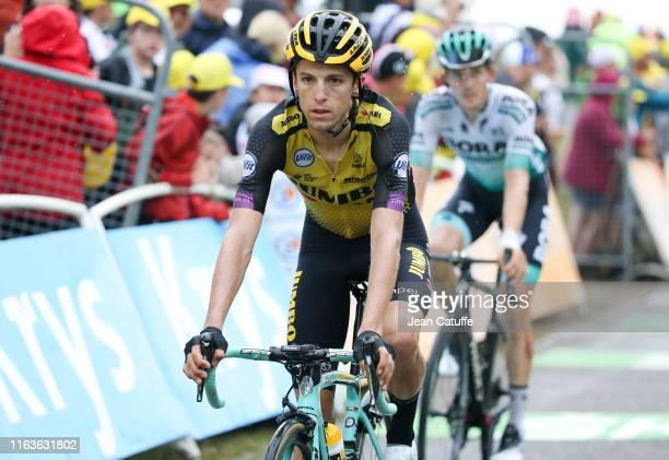George Bennett of New Zealand and Team Jumbo-Visma crosses the finish line during stage 15 of the 106th Tour de France 2019, a stage from Limoux to...